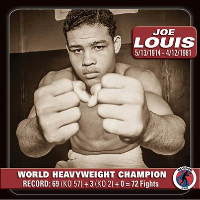 Joe Louis là một tay đấm luôn được xếp sau Ali